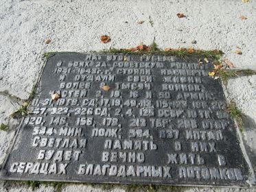 Перечень Героических частей Советских Армий, освобождавших эти места, с. Букань.