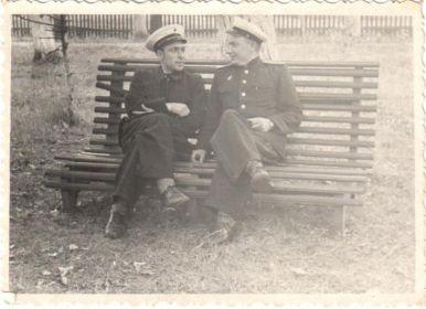 С братом Воронин Николай Фёдорович, май 1947
