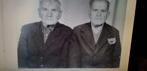 Нижник Василий Степанович с моим дедом, Нижником Федором Степановичем.