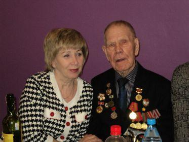 Панов Василий Никифорович с дочерью Людмилой.2011 год.