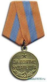 Медаль за взятия Будапешта