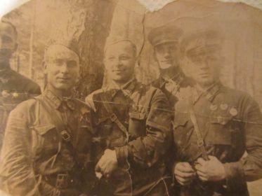 справа налево: Лютов, Волков, Цветков, Балабаев, Николаев