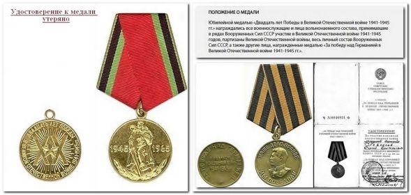 Юбилейная медаль «Двадцать лет Победы в Великой Отечественной войне 1941—1945 гг.»