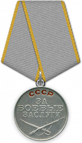 Медаль «За боевые Заслуги», 1944 г.