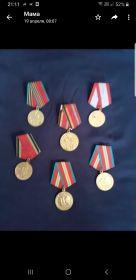 Награды. Воинские медали.
