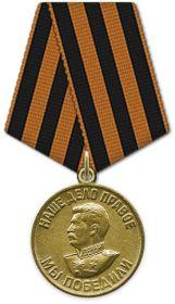 """Медаль """"За победу над Германией в Великой Отечественной войне 1941 - 1945 гг."""""""