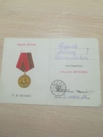 Медаль Жукова, 09.05.1996г.