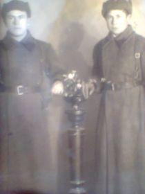 Косенков С.Ф. с сослуживцем