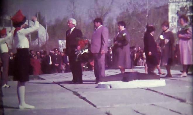 9 мая 1988 год г.Аксу(Ермак) (кинопленка предоставлена городским архивом г.Аксу .оцифровка Романов А.П.)