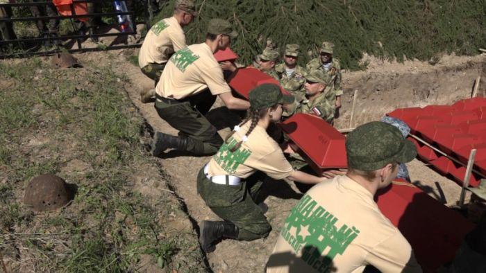 Останки 27 красноармейцев перезахоронены под Калугой