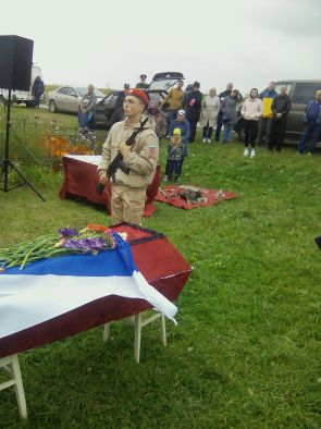 Участника Курской битвы похоронили на родине