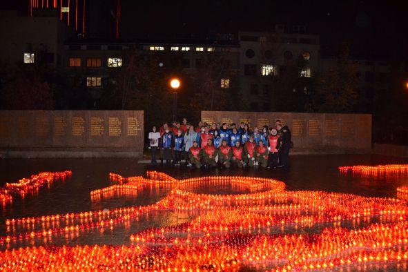 Челябинские общественники провели акцию «Огненная картина»