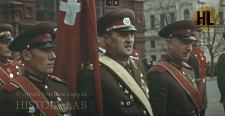 Парад в Москве 9 мая 1965 года. The Moscow Victory day parade 1965.