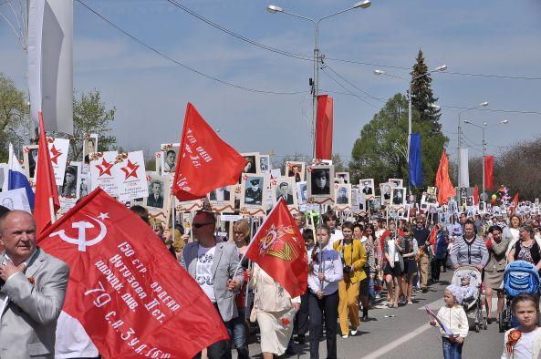 Шествие Бессмертный полк в Рузском муниципальном районе