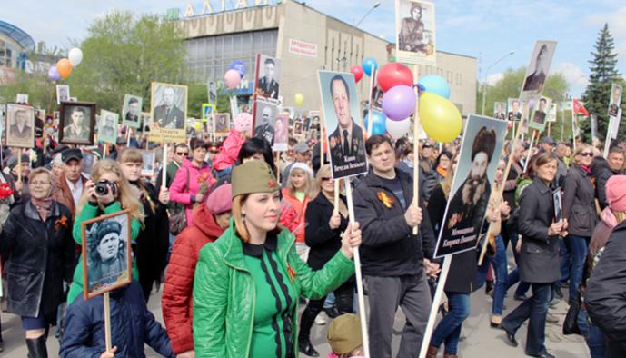 Колонна «Бессмертного полка» в Бийске будет формироваться 9 мая на улице Ленина