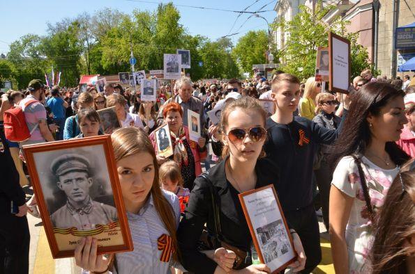 Шествие Бессмертного полка в Воронеже в 2018 году