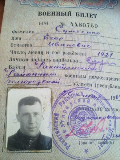 Сумченко Егор Иванович