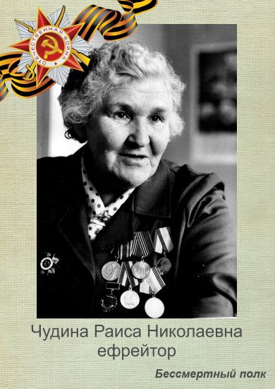 Чудина Раиса Николаевна