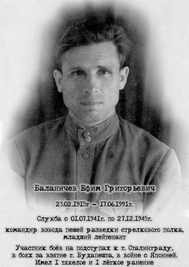 Баланичев Ефим Григорьевич