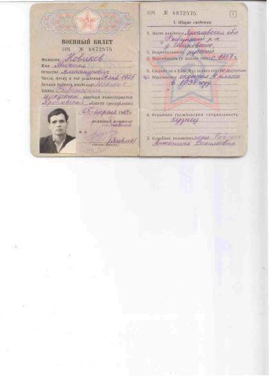 Новиков Михаил Александрович   24.01.1925-29.03.1994