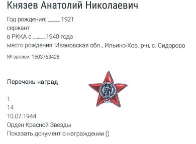 Князев Анатолий Николаевич