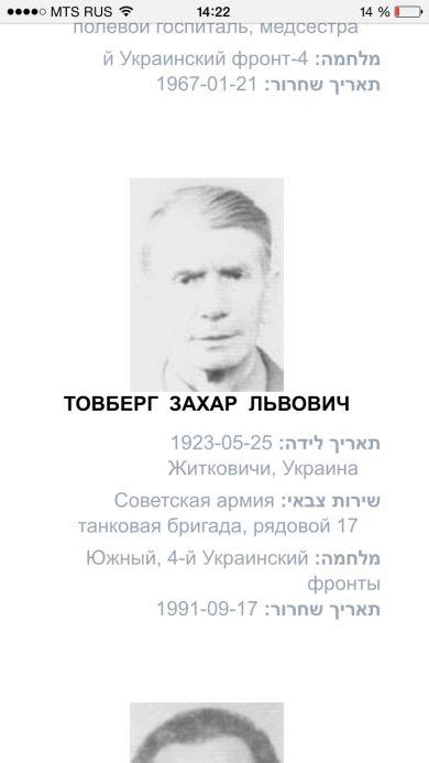 Товберг Захар Львович