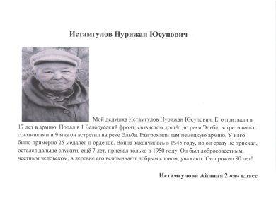 Истамгулов Нурижан Юсупович