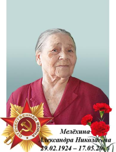 Мелёхина Александра Николаевна