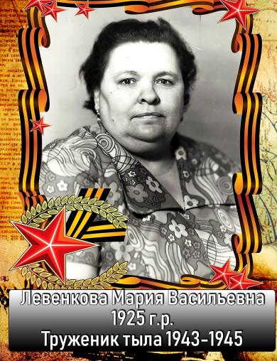 Левенкова Мария Васильевна
