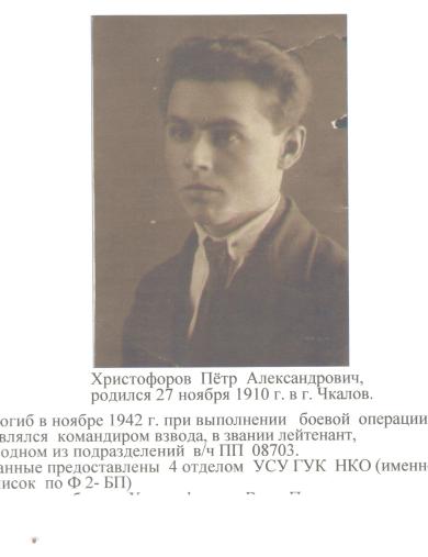 Христофоров Пётр Александрович