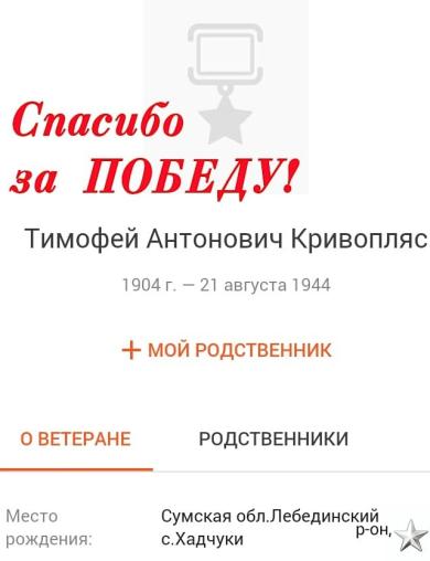 Кривопляс Тимофей Антонович