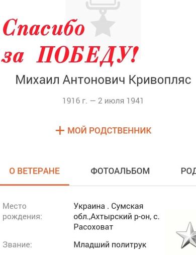 Кривопляс Михаил Антонович