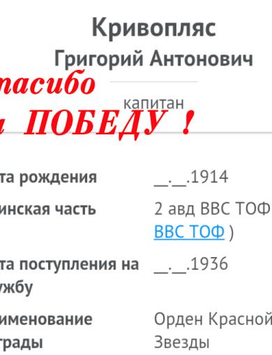 Кривопляс Григорий Антонович