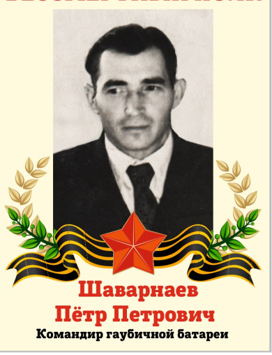 Шаварнаев Пётр Петрович
