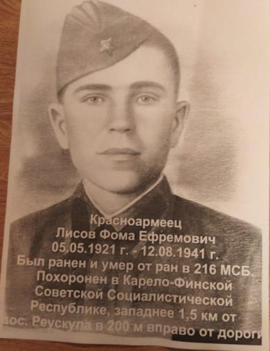 Лисов Фома Ефремович