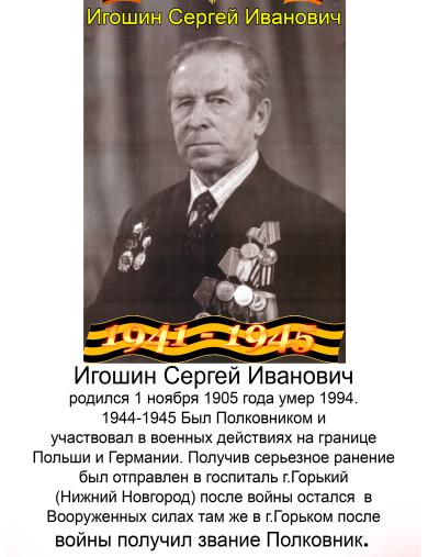Игошин Сергей Иванович