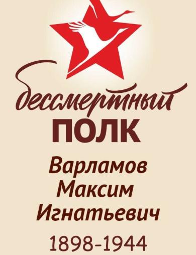 Варламов Максим Игнатьевич