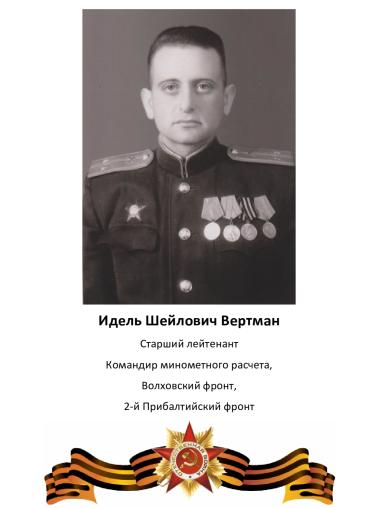 Вертман Идель Шейлович