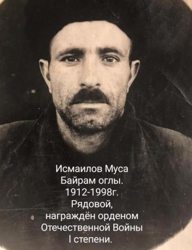 Исмаилов Муса Байрам Оглы