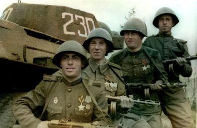 Бойцы танково-десантной роты