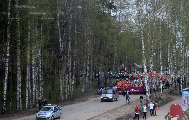 шествие Бессмертного полка 2019 Вологодская область Бабаево