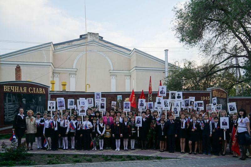 Шествие бессмертного полка в п.Каменоломни, 2016 год