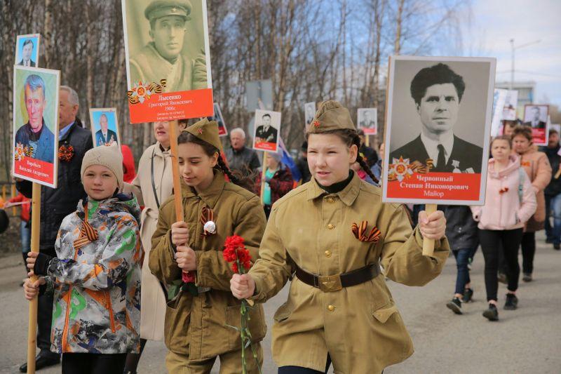 Бессмертный полк в Оленегорске
