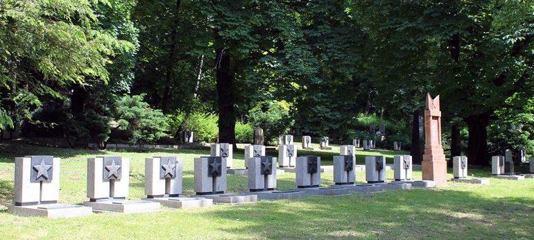 Фрагмент воинского захоронения.